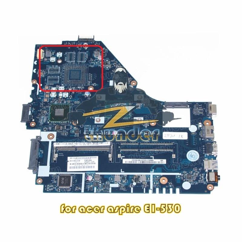 NOKOTION NBMEQ11002 NB. MEQ11.002 для acer aspire E1-530 материнская плата для ноутбука Z5WE1 LA-9535P 2117U CPU SR0VQ DDR3
