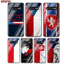 Black Silicone Case Czech Republic Flag for Samsung Galaxy Note 10 9 8 Pro M30 M20 S10E S10 5G S9 S8 S7 Plus Cover