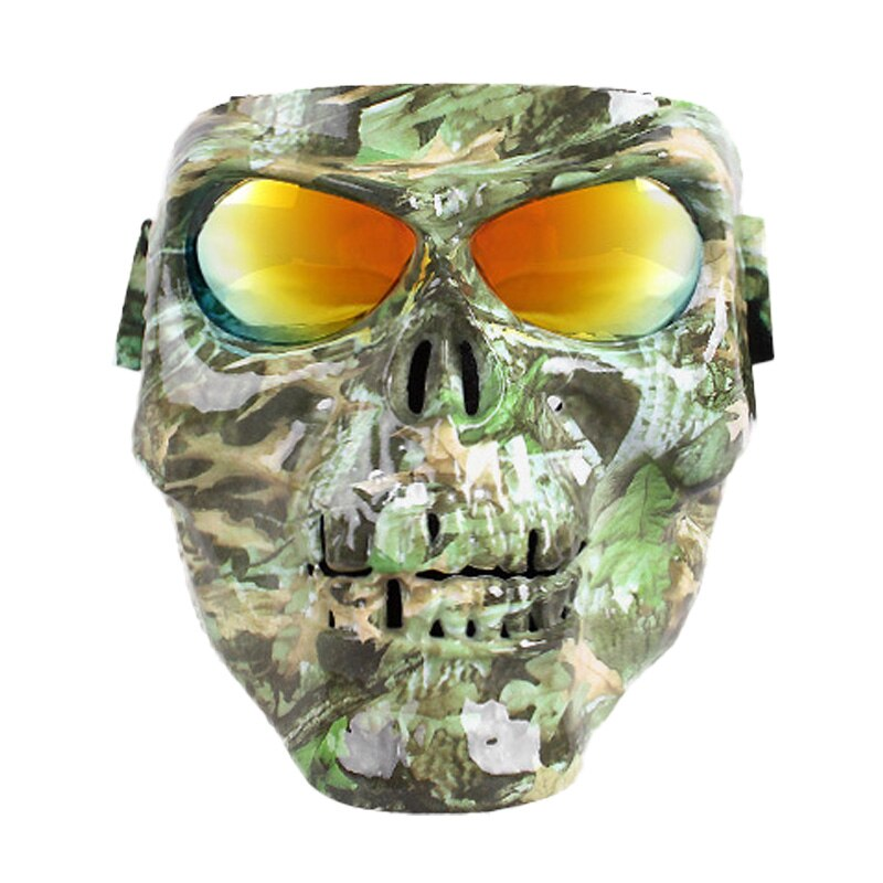 Skull Motorcycle Glasses Helmet Mask  Vintage Detachable Modular Mask Motorcycle Goggles Mouth Filter Moto Motocross Glasses enlarge