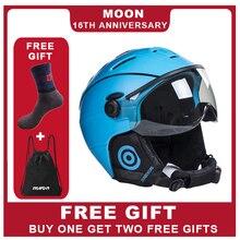 MOND Brille Ski Helm Integral Geformten PC + EPS CE Zertifikat Ski Helm Outdoor-Sport Ski Snowboard Skateboard