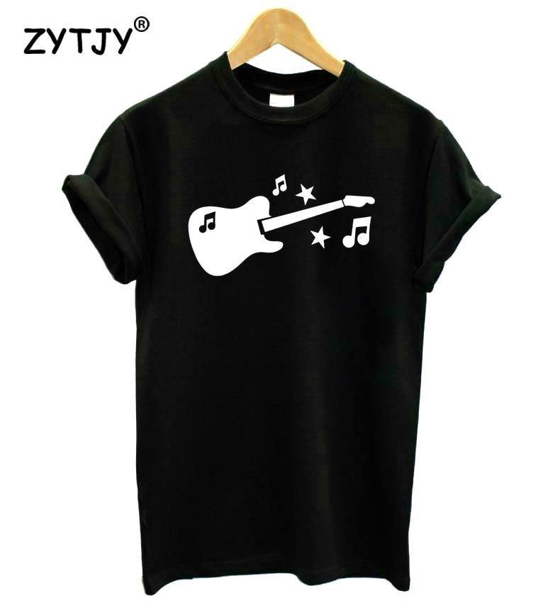 Guitar Music Symbol Print Women Tshirt Cotton Funny t Shirt For Lady Girl Top Tee Hipster Tumblr Drop Ship HH-152