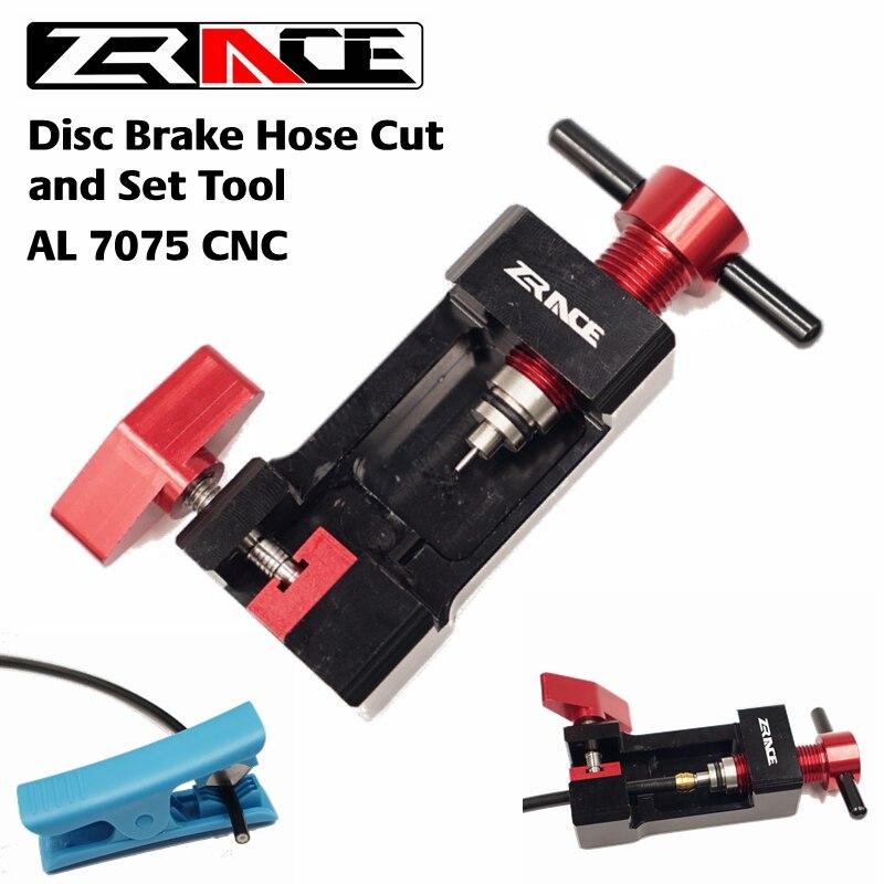 ZRACE Disc Brems Schlauch Cut und Set Werkzeug, Schlauch Schneiden & Einfügen & Olive & Stecker Einsatz Werkzeug