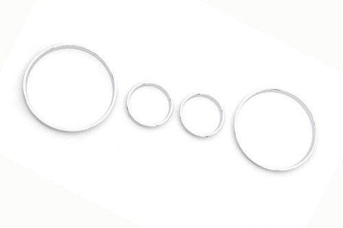 Conjunto de anel de calibre de traço cromado para bmw e39