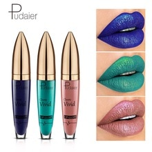 Pudaier marque Imagic mat à paillettes métallisé brillant Flip liquide rouge à lèvres imperméable violet noir rouge à lèvres brillant lèvres cosmétiques