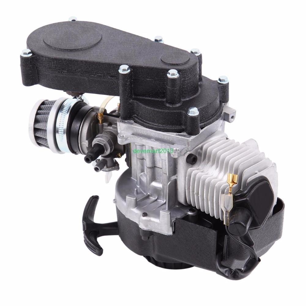 49cc 2-stroke Motor Pocket Bike Engine Mini Dirt Bike ATV Engine With Air Filter
