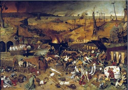 Pieter Bruegel the Elder: The Triumph of Death SILK POSTER Decorative painting 24x36inch
