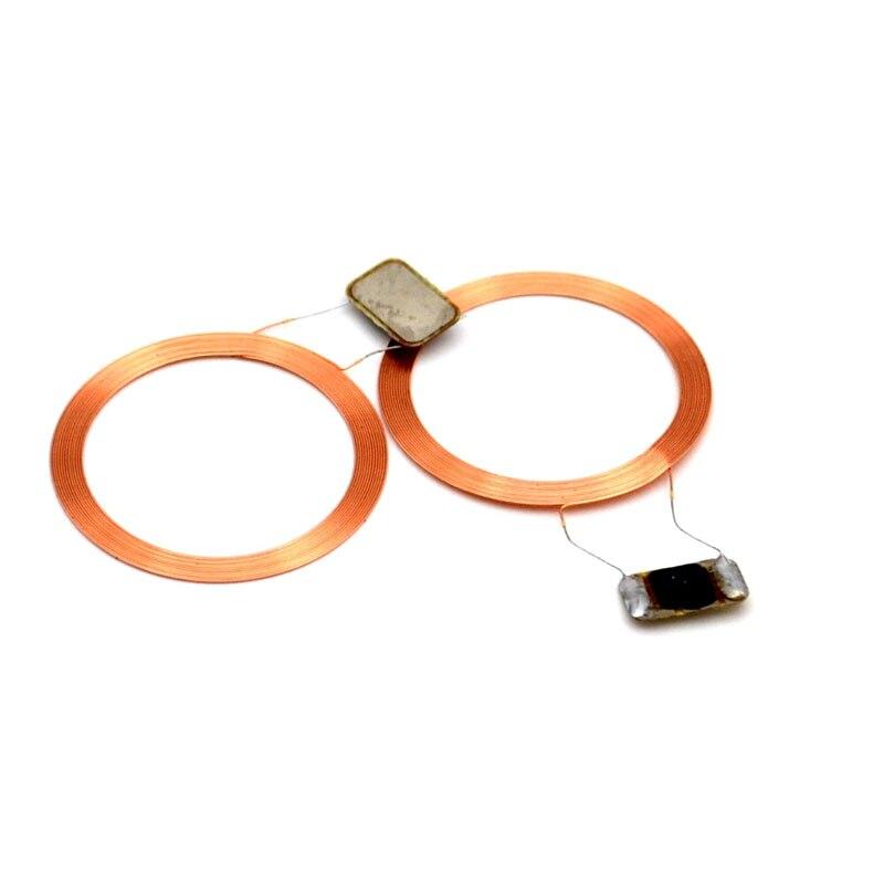 Étiquettes RFID copie de carte Clone   1 pièce avec T5577/T5557/5567 puce de proximité réinscriptible 125KHZ, bobine de carte + puce