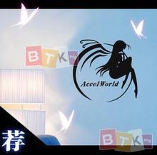 Accel Welt Kuroyuki hime Vinyl Wand Aufkleber Aufkleber Dekor Hause Dekoration Anime Cartoon Auto Aufkleber