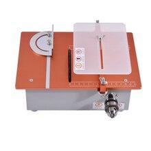 Nouveauté multifonctionnel Miniature Table scie bureau Cutter Mini Table scie 12 v-24 v/4-10A 5000-10000 r/min 31-34mm offre spéciale
