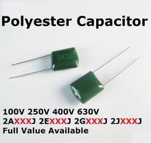 20 pièces 250V 2E223J 2E683J 2E104J 2E222J 2E472J Condensateur Polyester 2.2/4.7/22/68/100NF/0.022/0.068/0.0022/0.0047/0.1UF