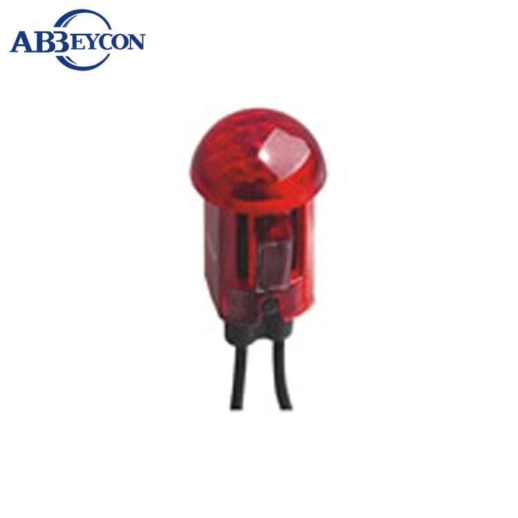 12 v mini lâmpada luzes indicadoras vermelha de aviso Em Miniatura Indicador Lâmpada Piloto 120 v Ac/Dc plástico shell 220 v luz piloto