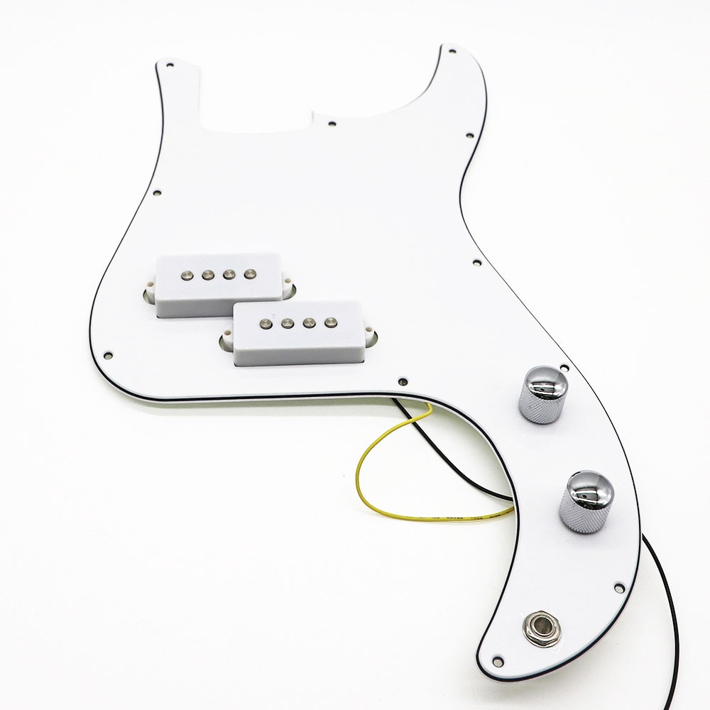 Golpeador blanco P Bass Precableado cargado para guitarra de bajo de precisión 3 capas PB Bass accesorios piezas