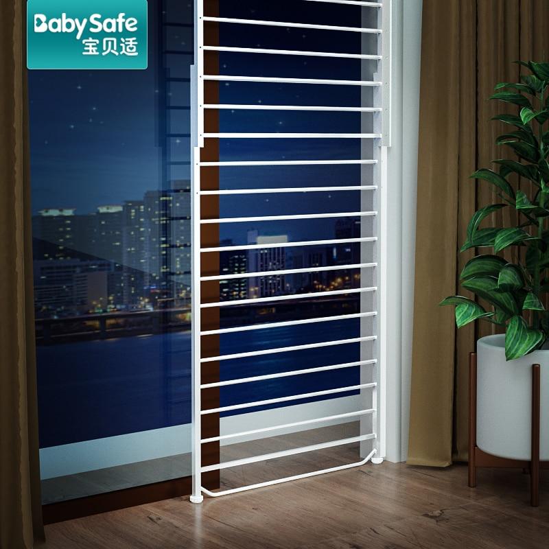 Babysafe window guardrail 20-335CM child protection window security anti-theft net balcony high-rise bay window fence free punch