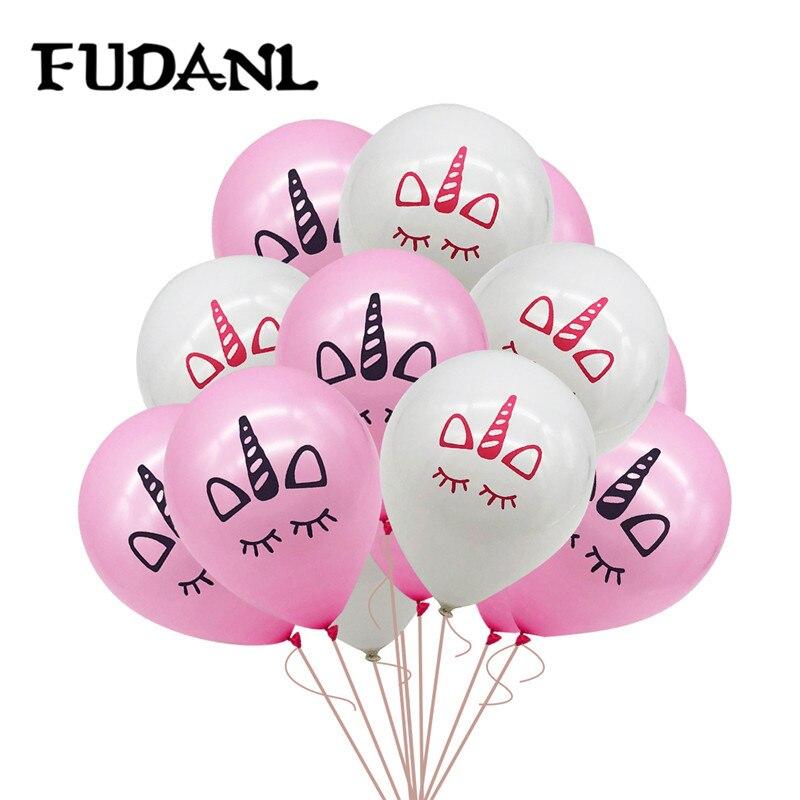 12 шт 10 дюймов Единорог латексные воздушные шары для дня рождения вечерние украшения для вечеринки у бассейна вечерние украшения для детей Е...