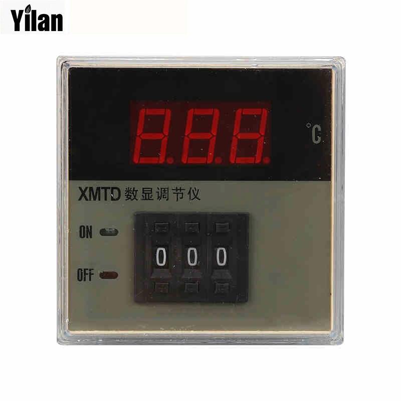 XMTD-2001 2002 220 V/380 V AC K tipo/E tipo/PT100 controlador de temperatura, 0-399C LED medidor de Control de pantalla Digital de buena calidad