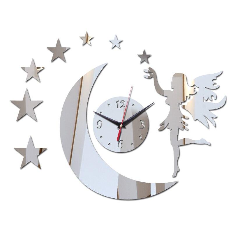 ¡Novedad de 2019! ¡oferta! 3d Reloj de pared de acrílico, promoción de espejo, decoración del hogar, diseño moderno, reloj adhesivo de cristal diy