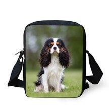 THIKIN roi Charles épagneul chien animal de compagnie imprimé filles Mini sacs femmes dames sac de messager personnalisé dames sacs à bandoulière enfant lumière