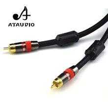 ATAUDIO 4N OFC 75ohm Hifi numérique Coaxial Audio vidéo câble Rca haut de gamme RCA à RCA mâle Subwoofer câble Audio 1 m 2 m