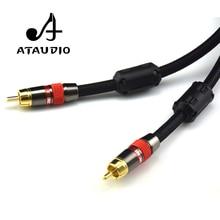 ATAUDIO 4N OFC 75ohm Hifi Digitale Coaxiale Audio Video Rca kabel Hi-end RCA RCA Mannelijke Subwoofer Audio Kabel 1 m 2 m