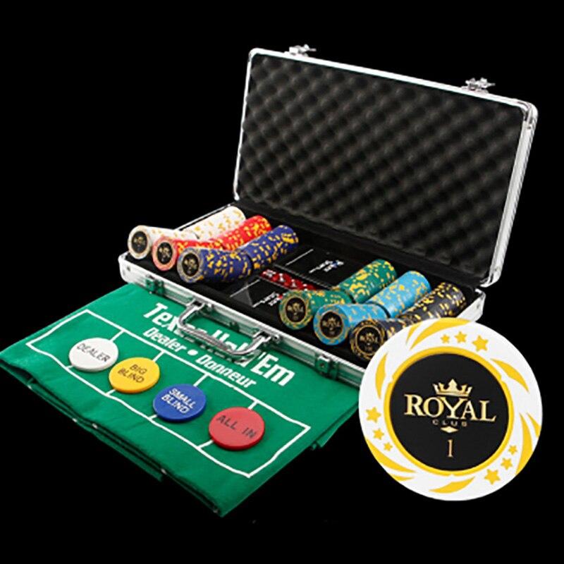 300 шт./компл. 22 варианта покерных чипов, наборы чипов для покера с металлической коробкой