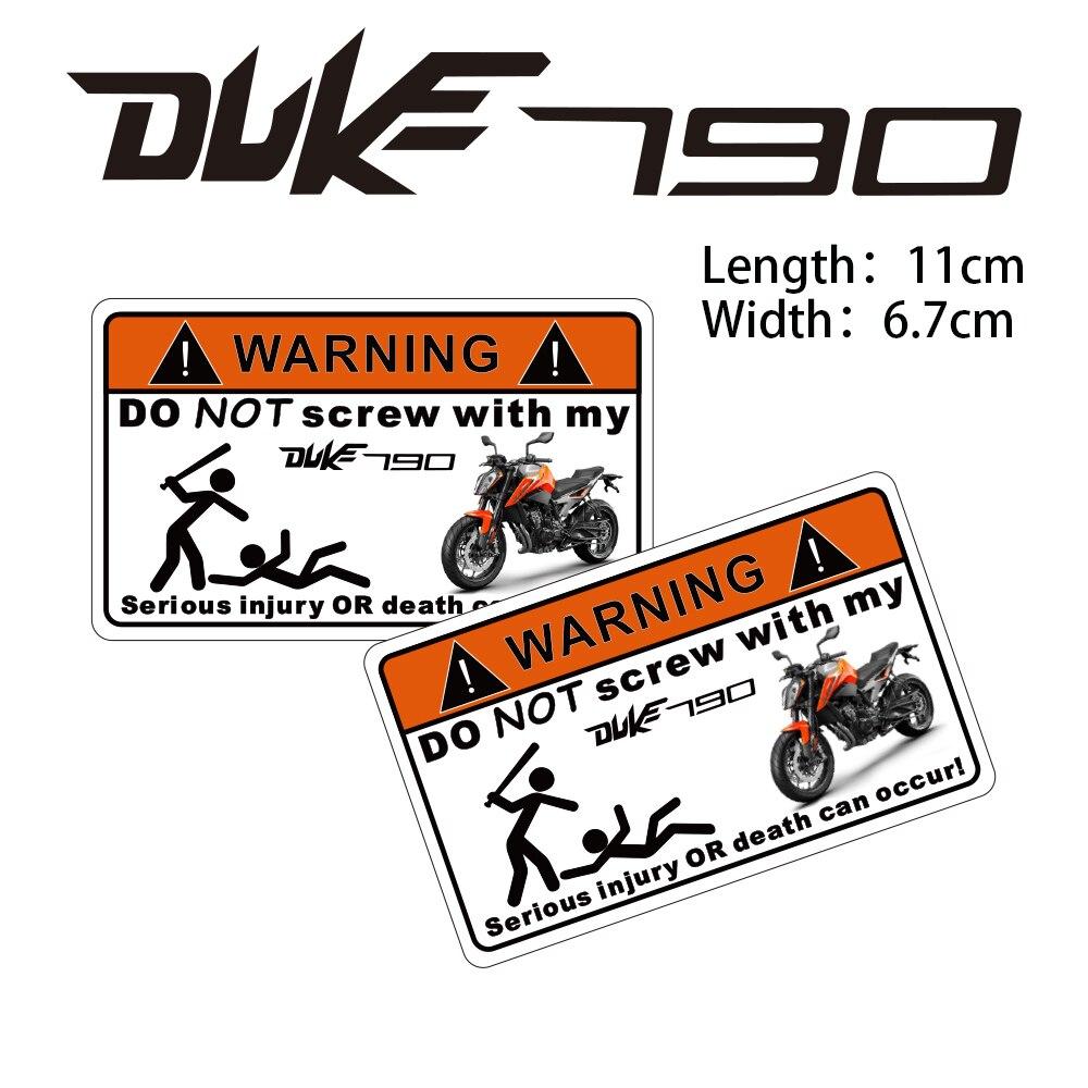 KODASKIN 2 piezas no atornillan la pegatina de advertencia para DUKE790