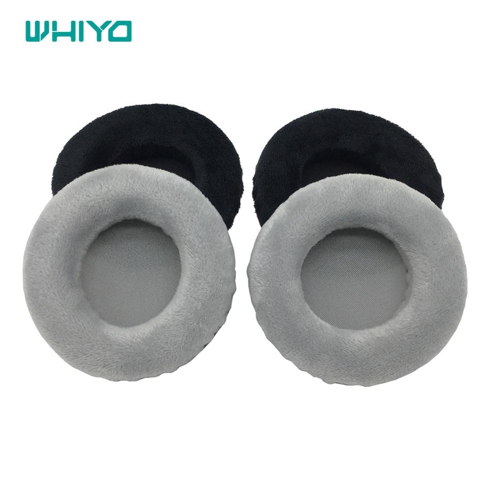 Whiyo 1 زوج من المخملية كم الكؤوس الأذن منصات وسادة غطاء وسائد الأذن Earmuff استبدال ل Koss UR-20 UR.20 UR20 سماعات
