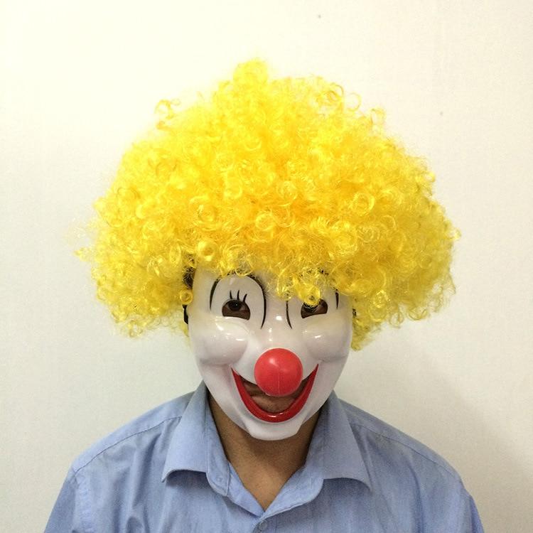 1Pcs Halloween Disco Explosive Head Wig Funny Circus Clown Wigs Caps Dance Bar Wedding Party Dress Performance Props