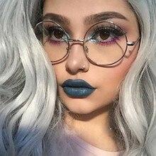 Lunettes de Prescription à monture ronde en alliage   Lunettes pour femmes 2020, œil optique rétro clair Glasse montures de lunettes pour hommes femmes
