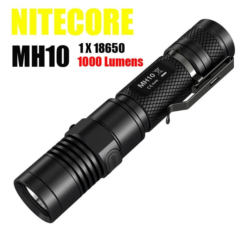 2015 el más nuevo Nitecore MH10 1000 lúmenes CREE XM-L2 U2 linterna LED Nitecore batería recargable de 2300 mah envío gratuito
