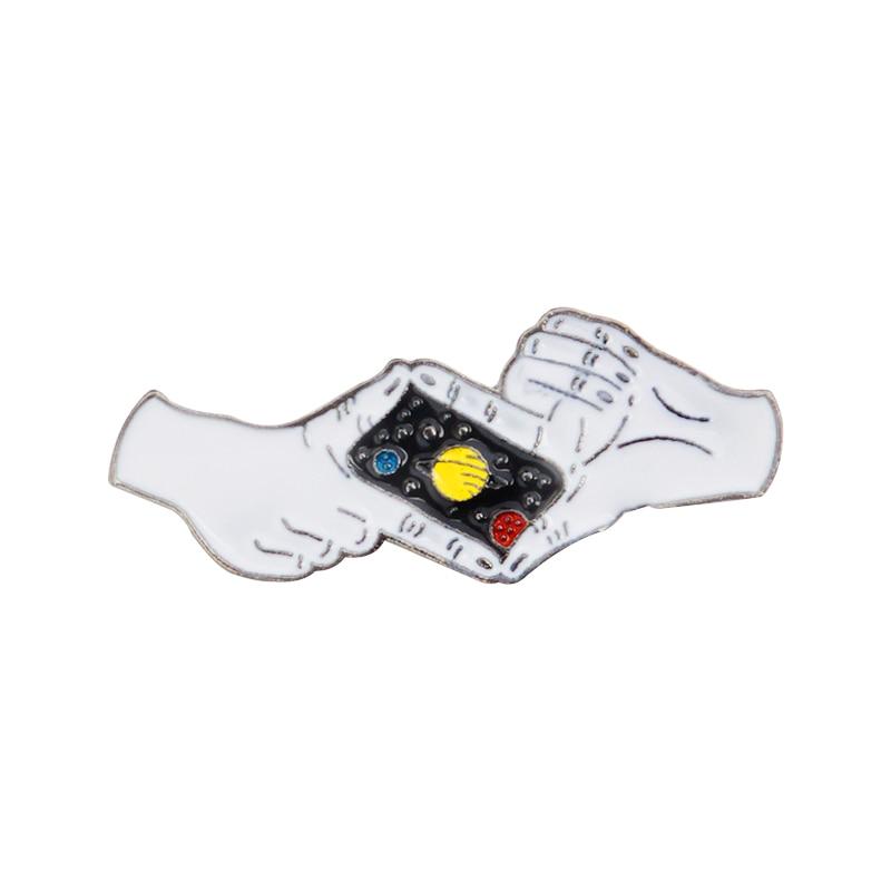 Fantasía aventura Pin Saturn espacio esmalte pin planeta fotografiar broches con gestos sombrero mochila insignias Pin para solapa regalo de joyería