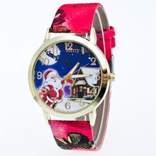 2019 New Christmas New Year quartz women's watches Leather Personality strap men students watch Stai
