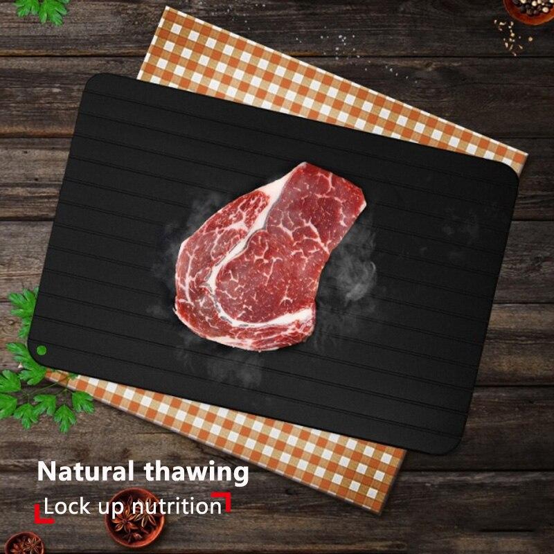 Nueva bandeja de descongelación rápida, deshielo, comida congelada, fruta, descongelación rápida, placa de descongelación, descongelamiento práctico, utensilios de cocina