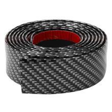 2.5m Length 3/5/7/10cm Width Carbon Fiber Look Rubber Bumper Strip Door Sill Protector Universal Auto Car Styling Sticker