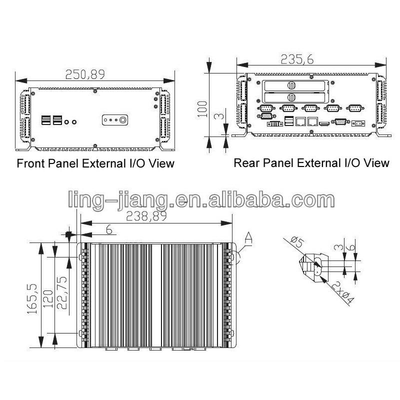 Industrial Mini PC With 4GB RAM 64GB SSD 2*LAN RJ45 Intel Core P8600 processor industrial computer enlarge
