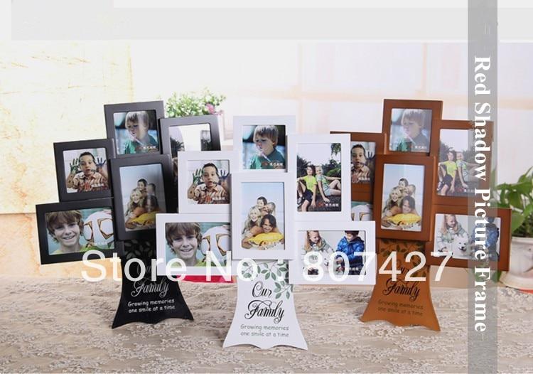 Marco de fotos de árbol de la familia americana marco de fotos de madera de niños marcos de árbol feliz 3x3 pulgadas y 3x4,5 pulgadas
