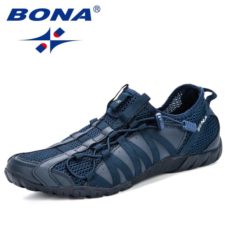 بونا 2019 جديد شعبية حذاء كاجوال الرجال لاك متابعة خفيفة مريحة للتنفس المشي أحذية رياضية رجل تنيس Feminino Zapatos