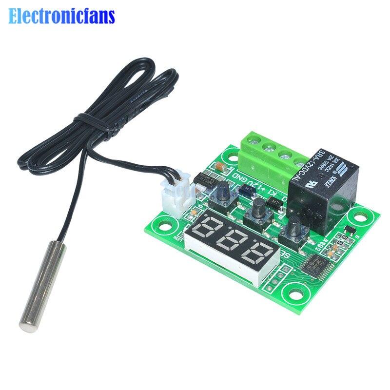 10 Uds W1209 Digital LED DC 12V calor frío temp termostato Interruptor de control de temperatura módulo/controlador placa + Sensor NTC