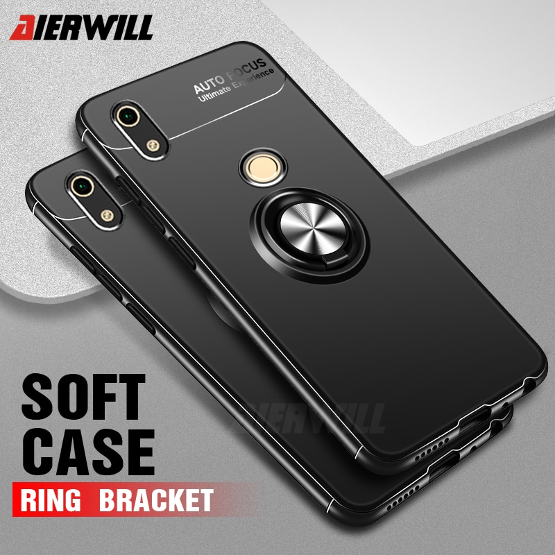 Honor 8A 8A case For Huawei honor Caso Titular Anel de Dedo de Silicone Macio Matte Capa Protetora Para Huawei honor caso 8A