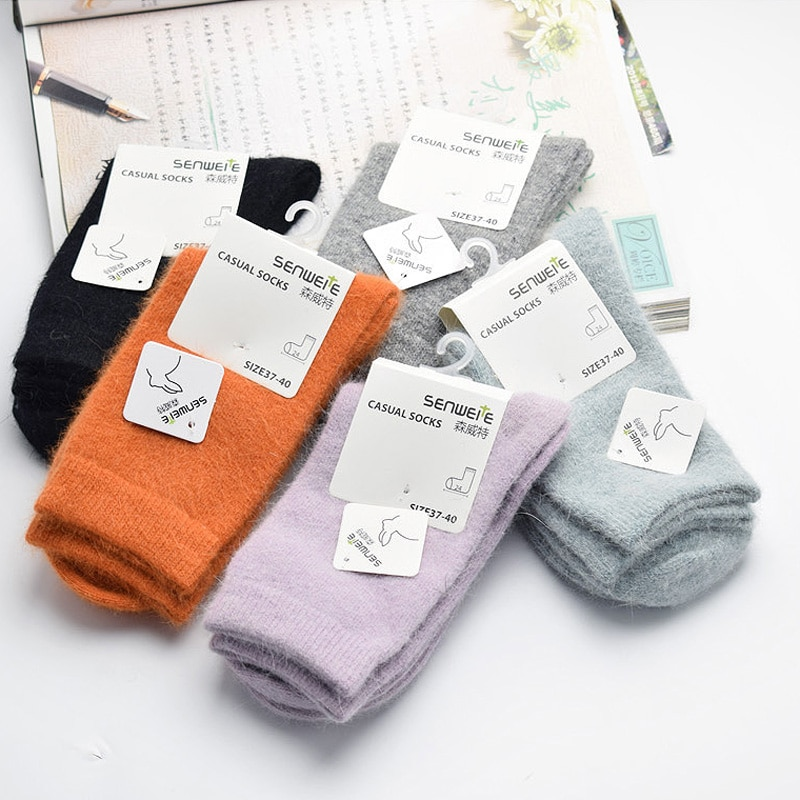 New High Quality Brand Thick Angola Rabbit&Merino Wool Socks Women Winter Socks Warm Socks For Women Female Socks Big Size