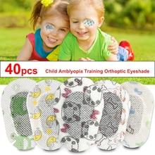 40 pièces Dessin Animé Lamblyopie Patchs Oculaires Coloré Enfant Amblyopie Formation Orthoptique Corrigé Eyehade Occlusion Patch Médical Pour Les Yeux
