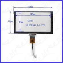 ZhiYuSun Freeshipping YH-CTP801 153*88 compatível 6.2 polegada tela Capacitiva de vidro Para GPS DO CARRO 153mm * 88mm GT911