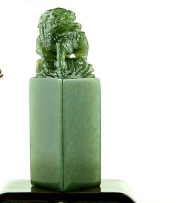 Envío Gratis Sello Verde congelado Jade Material Kirin nombre sello puro hecho a mano letras personalizado 3x3x10