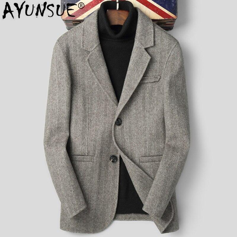 Ayunsure-Chaqueta de lana 2010 para Hombre, Abrigo de doble cara, abrigos y...