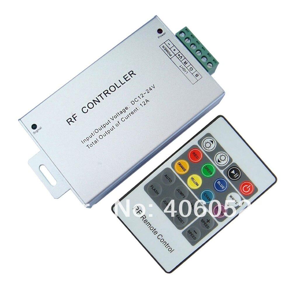 4 pçs/lote DC12V 20 Chave RGB controle remoto para smd5050/3528 rgb led strip