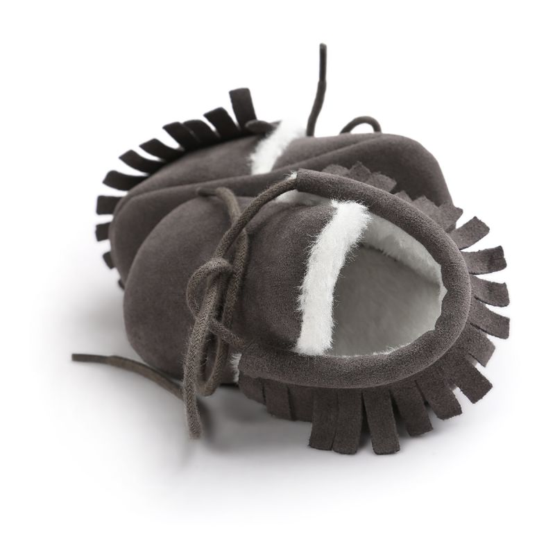 Fashion PU Shoes Winter First Walkers Shoe Unisex Sole Crib Bottom Flats Children Toddler Kid