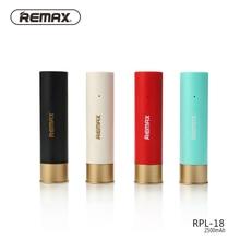 Remax RPL-18 Mini Portable Power Bank 2500mAh Shell Case Powerbank for xiaomi phone universal polymer lithium battery RPL18