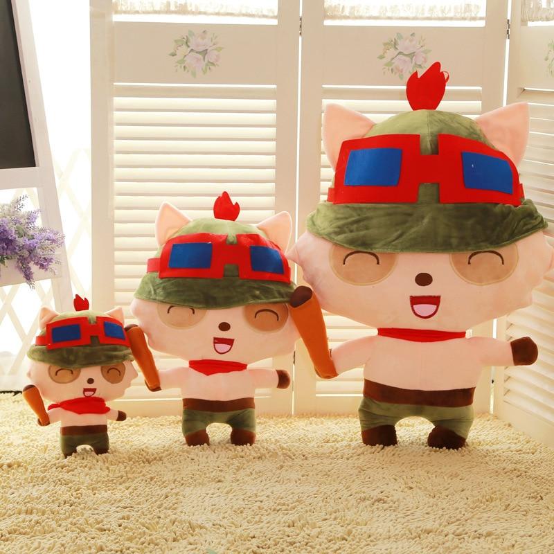 Película TV cartón figura de peluche juguete LOL juegos Teemo cojín de muñeco suave juguete niños Regalo de Cumpleaños w0883