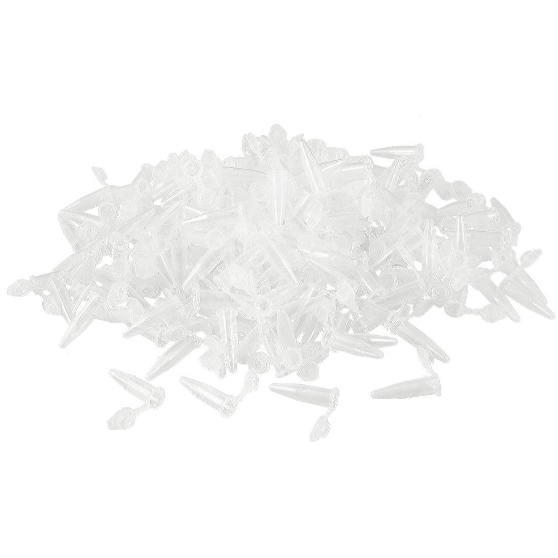 1000 шт лабораторная прозрачная белая печатная пластиковая центрифужная трубка 0,5 мл