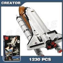 1230 pièces créateur nouvelle navette expédition aventure 16014 modèle blocs de construction assembler briques enfants compatibles avec Lago