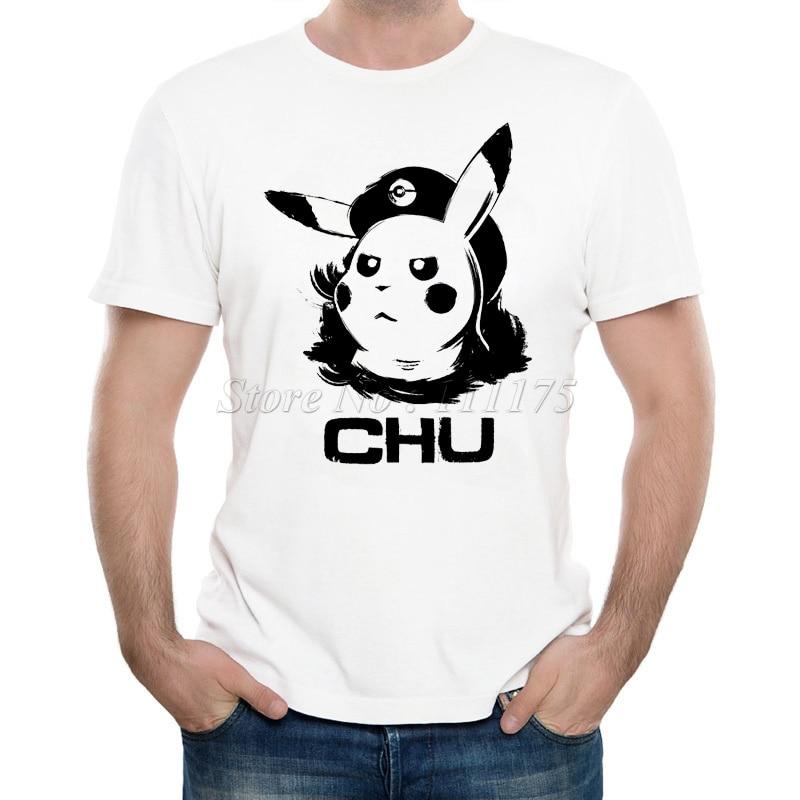 2019 Mens New Fashion Pikachu Printed T Shirt Summer Cool Design Tops High Quality Soft Tee